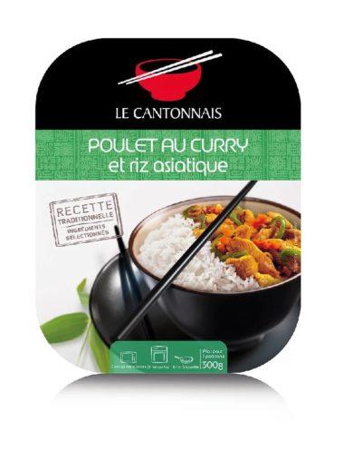 Poulet au curry et riz parfumé