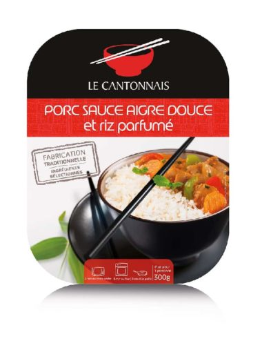 Porc sauce aigre douce et riz parfumé